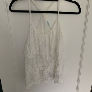 Urban Outfitters White lace tank